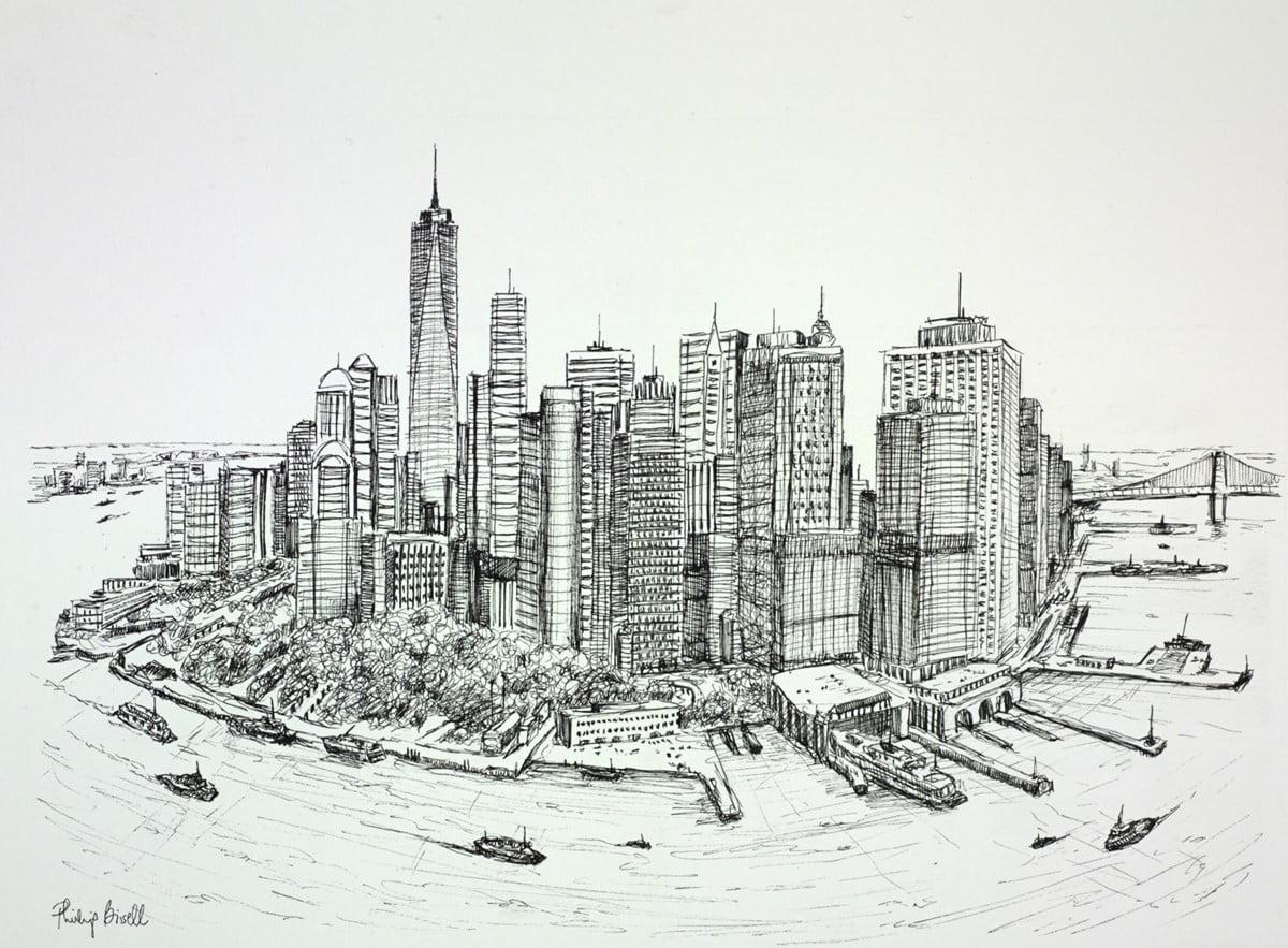 Manhattan Skyline, New York ~ Phillip Bissell