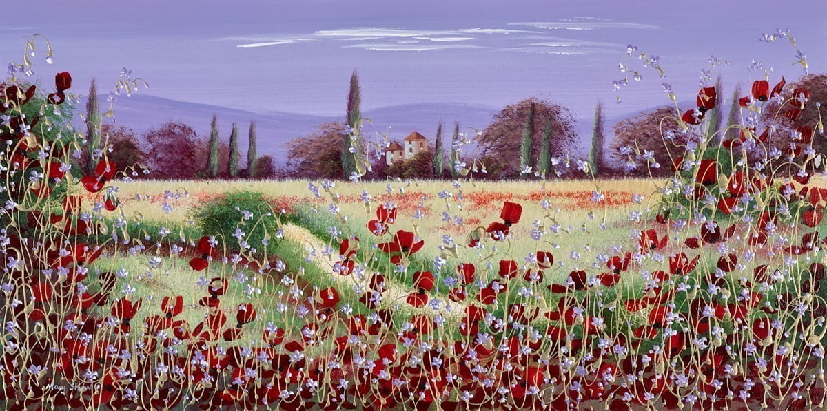 Poppy Panorama VI ~ Mary Shaw