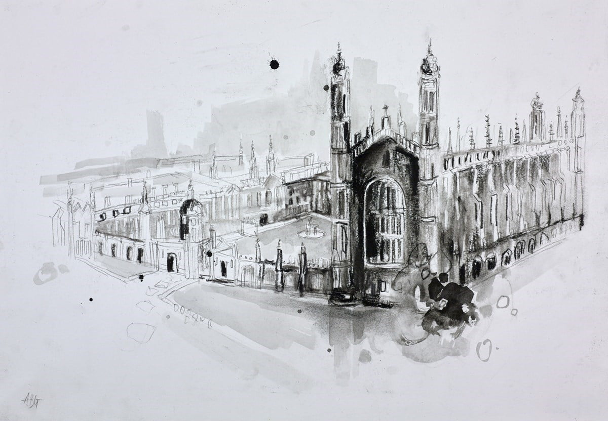 King's College, Cambridge Sketch II ~ Anna Gammans