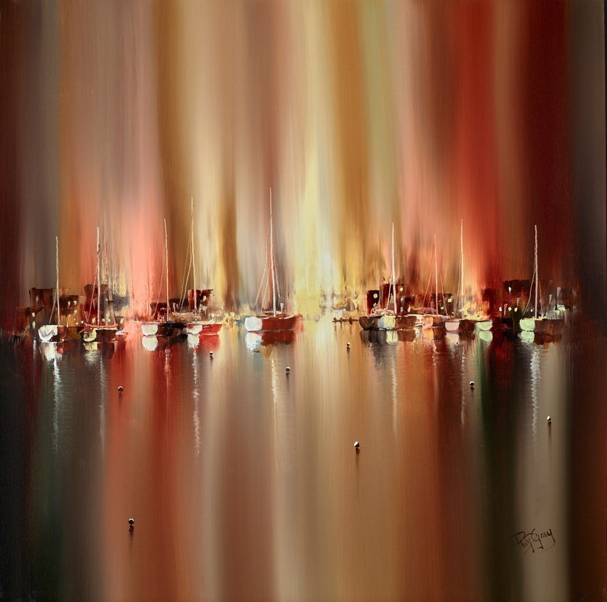 Harbour Lights Evening Time ~ Philip Gray
