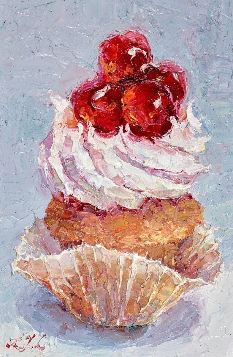 Cupcake Portrait - Glazed Cherries I ~ Lana Okiro