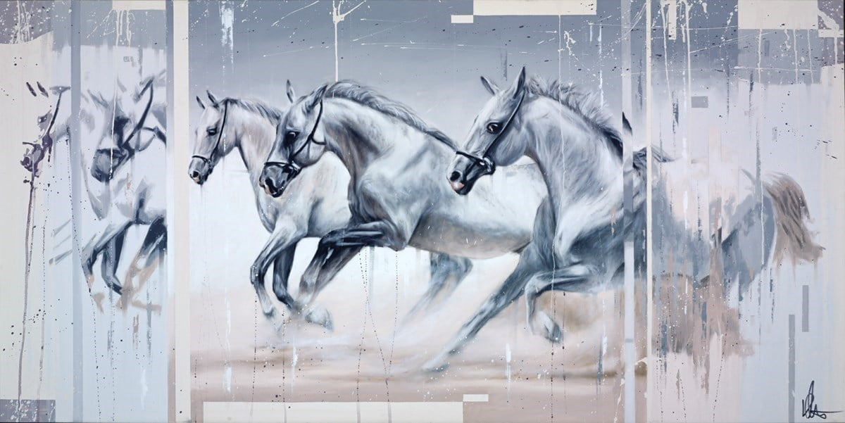 Three White Horses ~ Kris Hardy