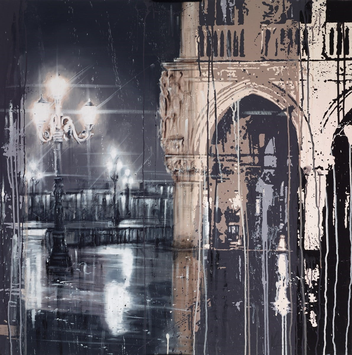 Venice Rain at Night ~ Kris Hardy