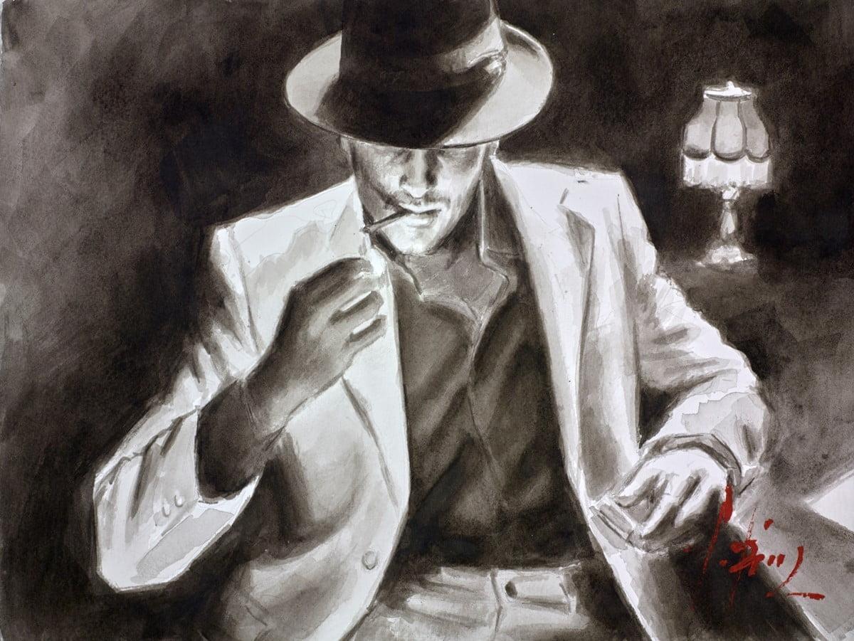 Night Club II (Ink) ~ Fabian Perez