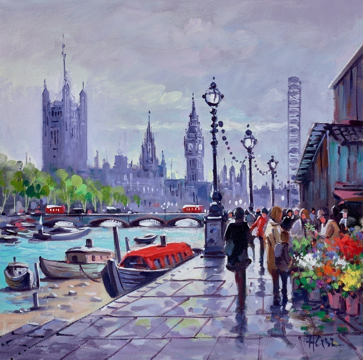 Boats on the Thames, Westminster ~ Henderson Cisz