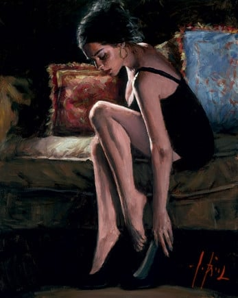 Blue and red iii ~ Fabian Perez