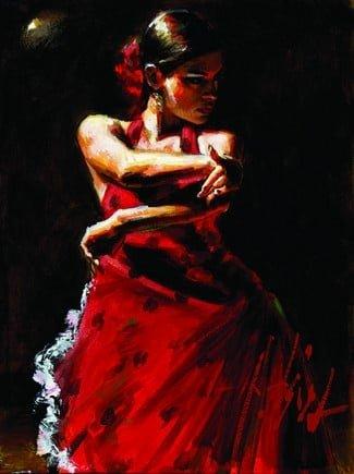 Celina con lunares negros ~ Fabian Perez
