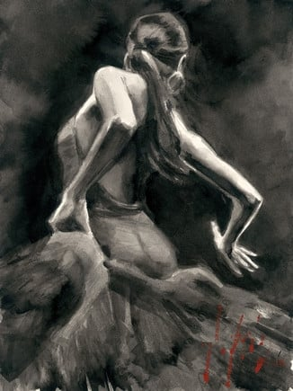 Dancer in red (canvas) ~ Fabian Perez