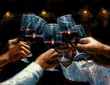 For a Better Life, Red Wine ~ Fabian Perez