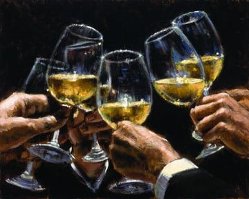 For a better life, white wine ~ Fabian Perez