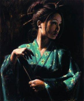 Geisha en turquessa ~ Fabian Perez