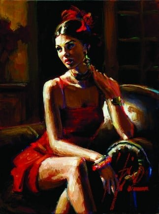 Linda in red ~ Fabian Perez