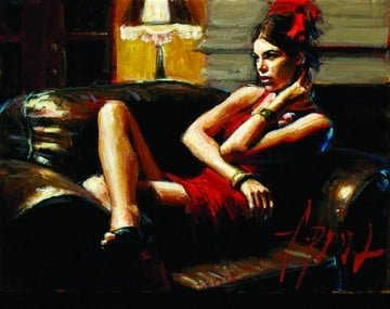 Linda in red iii ~ Fabian Perez