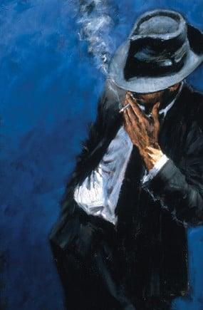 Man in black suit ~ Fabian Perez