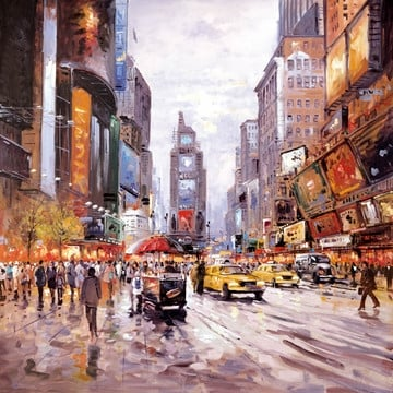 Morning in Times Square ~ Henderson Cisz