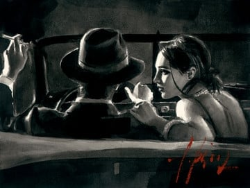 Paco and darya in car (deluxe) ~ Fabian Perez
