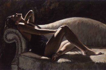 Paola On The Couch ~ Fabian Perez