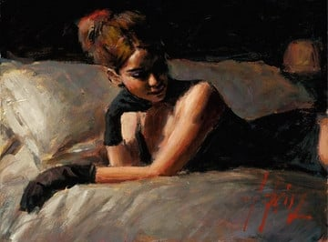 Paola on the bed ~ Fabian Perez