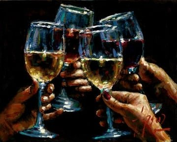 Red white and rose iii ~ Fabian Perez