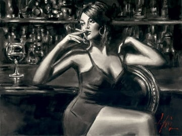 Saba at las brujas at the bar ~ Fabian Perez