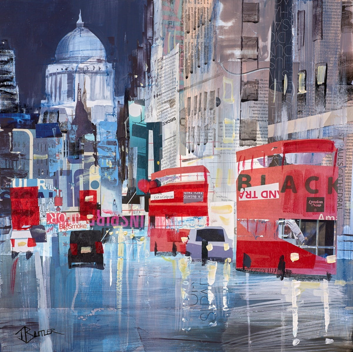Night Lights, Fleet Street Study ~ Tom Butler