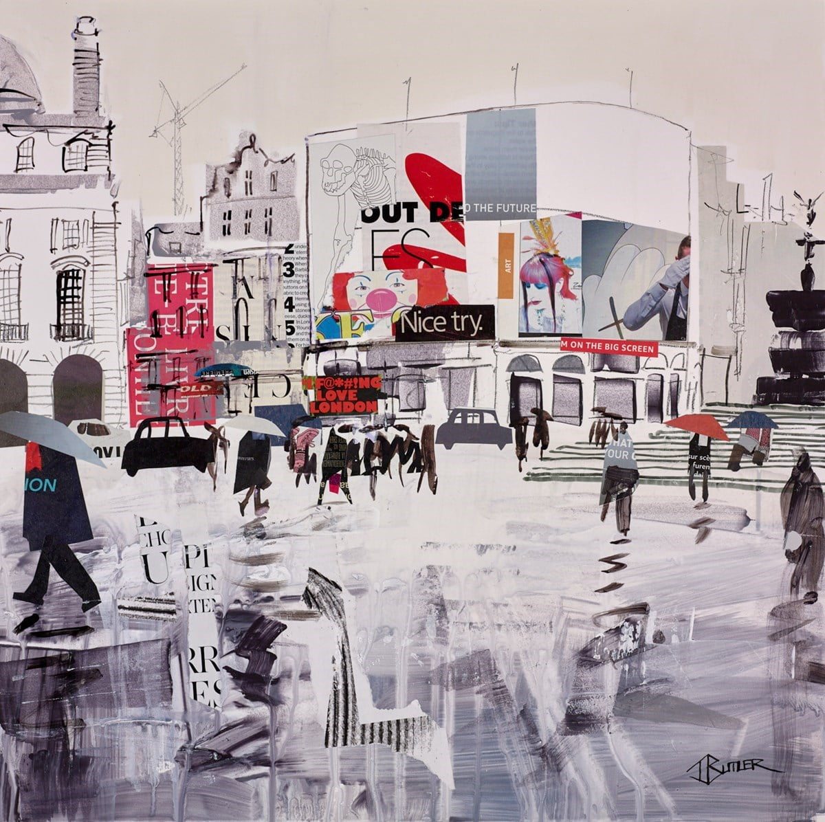 Piccadilly Rain Study ~ Tom Butler