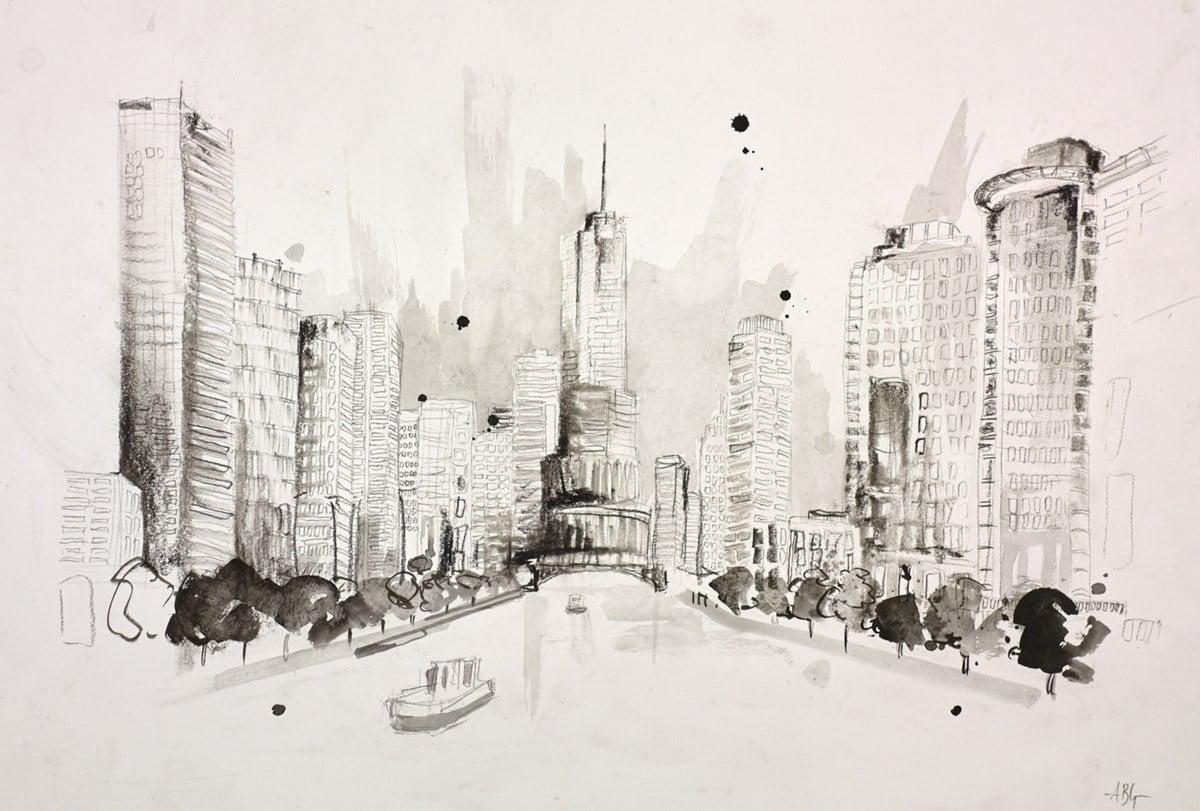 Chicago, USA Sketch I ~ Anna Gammans