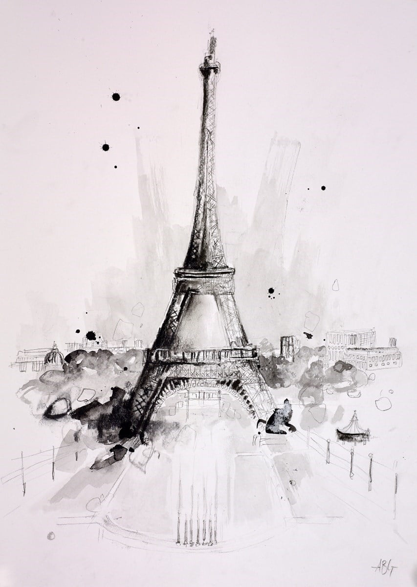 Eiffel Tower Sketch II ~ Anna Gammans