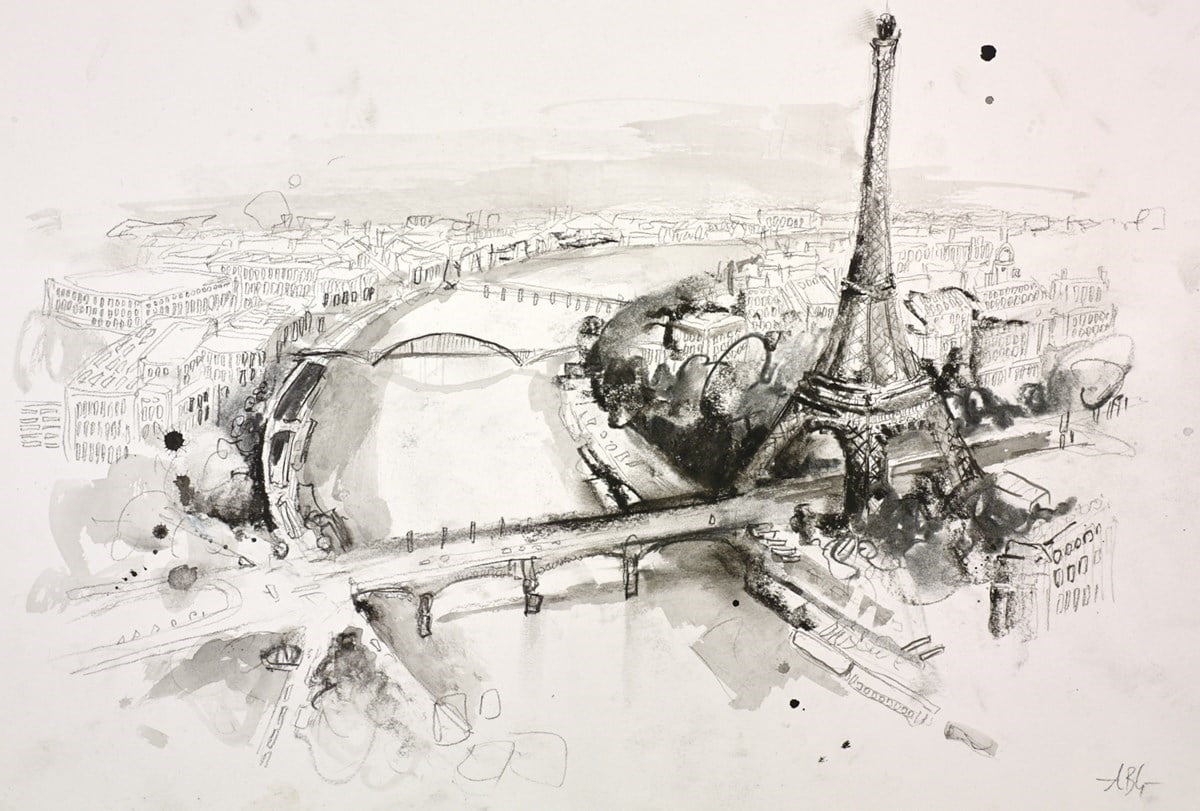 Paris Sketch VI ~ Anna Gammans