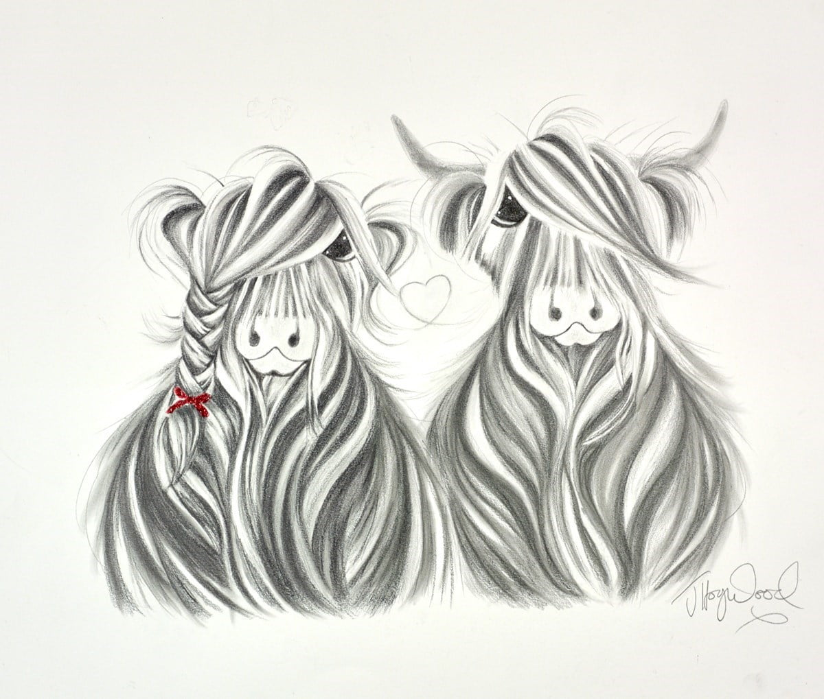 Tied to Moo Sketch ~ Jennifer Hogwood