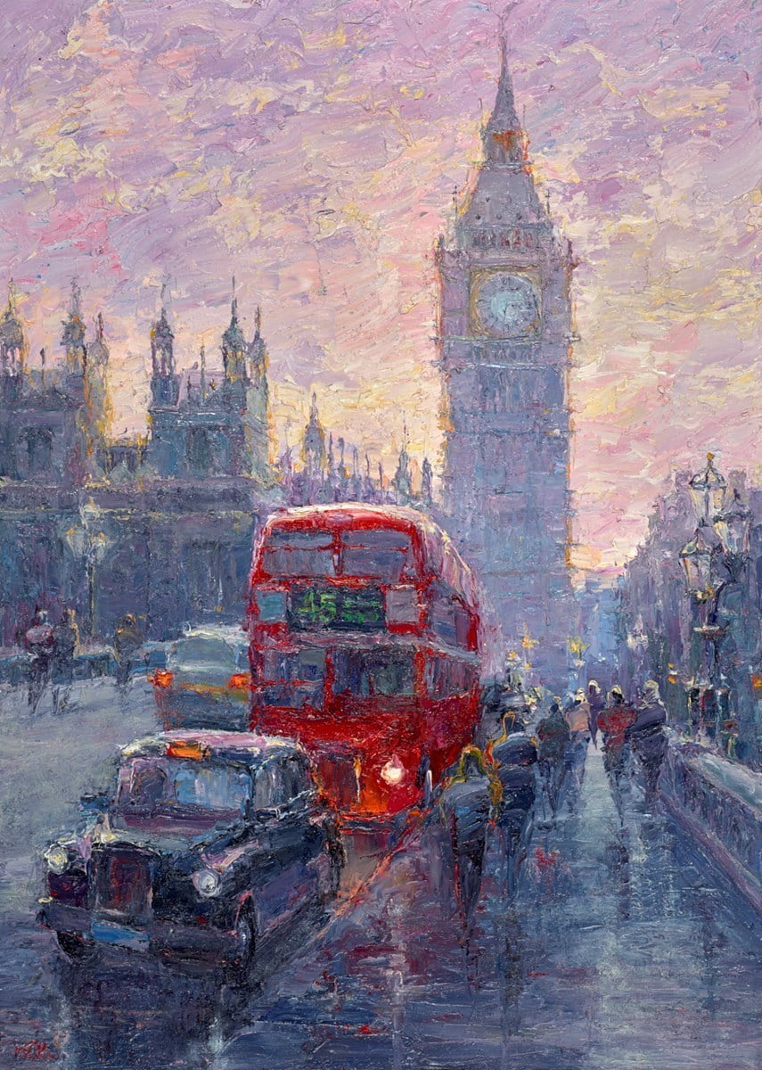 Evening, Westminster Bridge, London ~ Lana Okiro