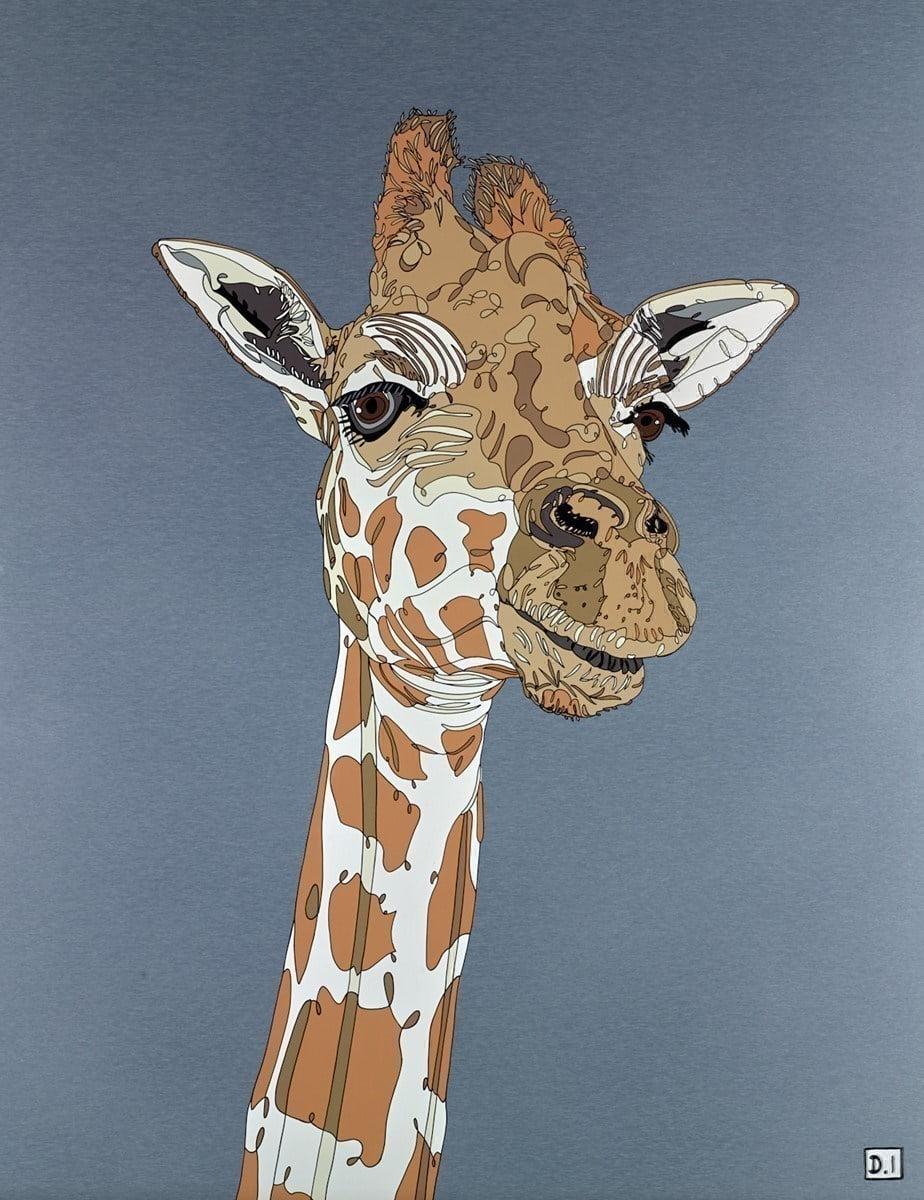 Giraffe on Silver ~ Dylan Izaak