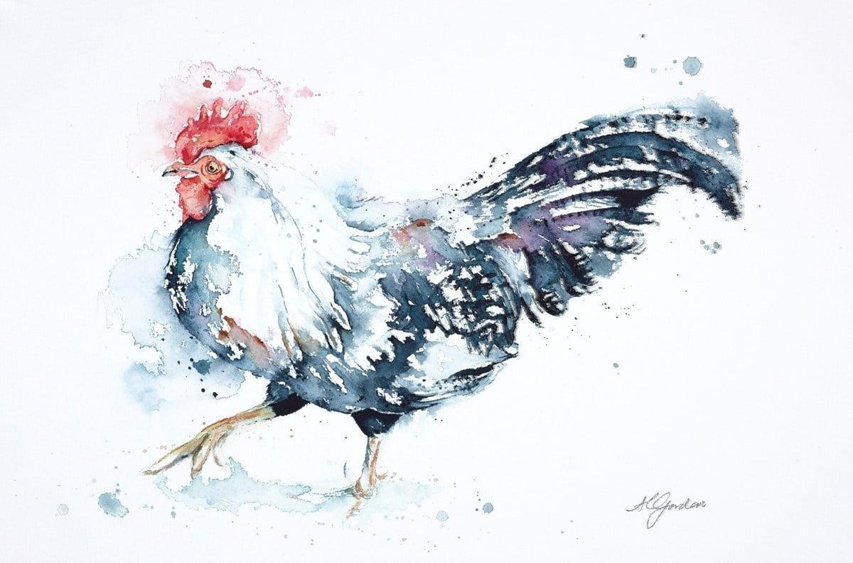 Dancing Cockerel ~ Amanda Gordon