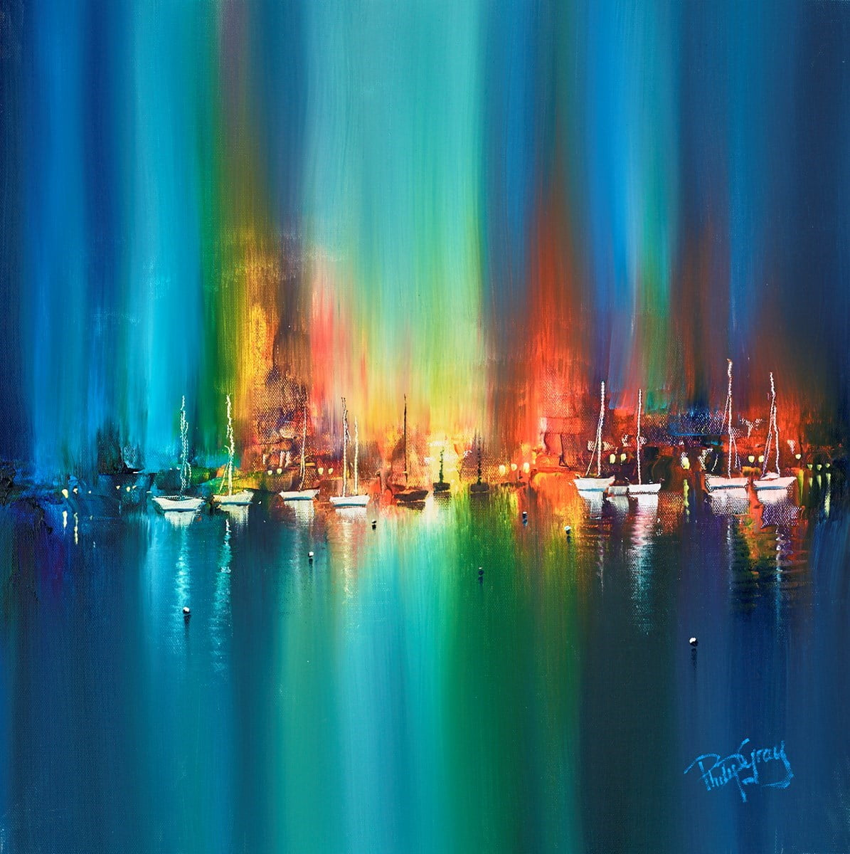 Lights over the Harbour ~ Philip Gray