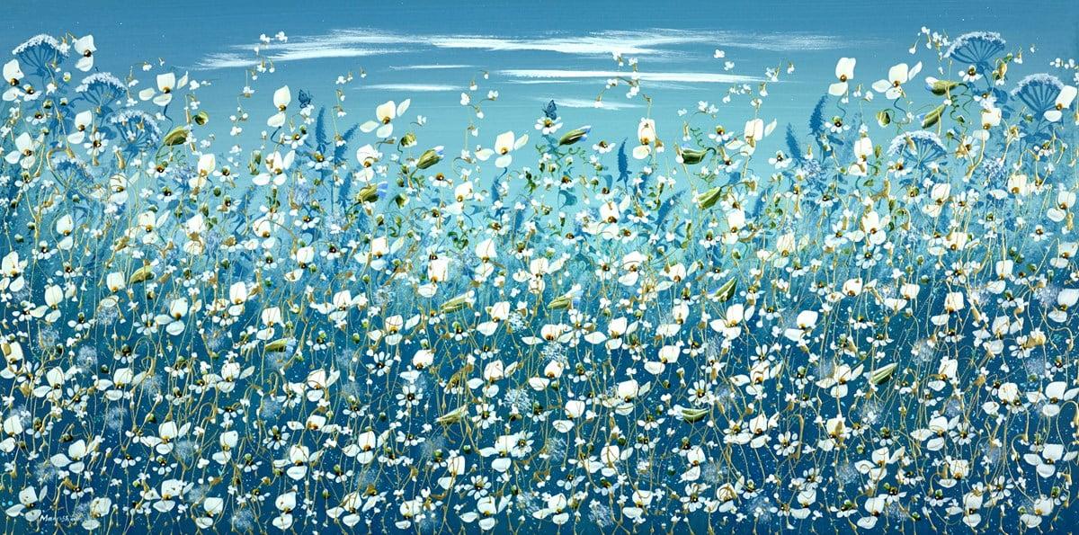 Blue Meadow Butterflies ~ Mary Shaw