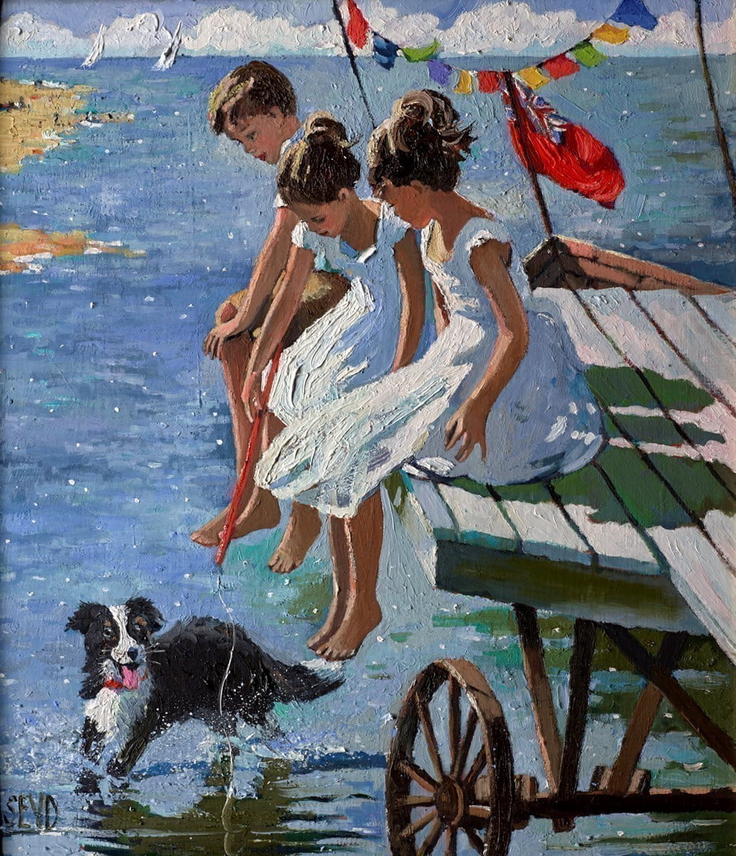 Study for On the Jetty ~ Sherree Valentine Daines