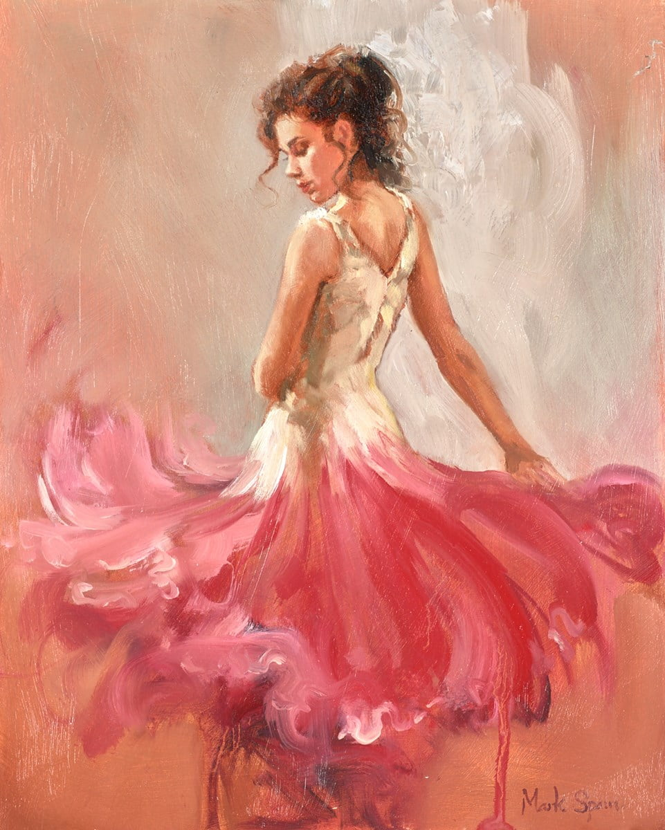 Red and White Dress ~ Mark Spain