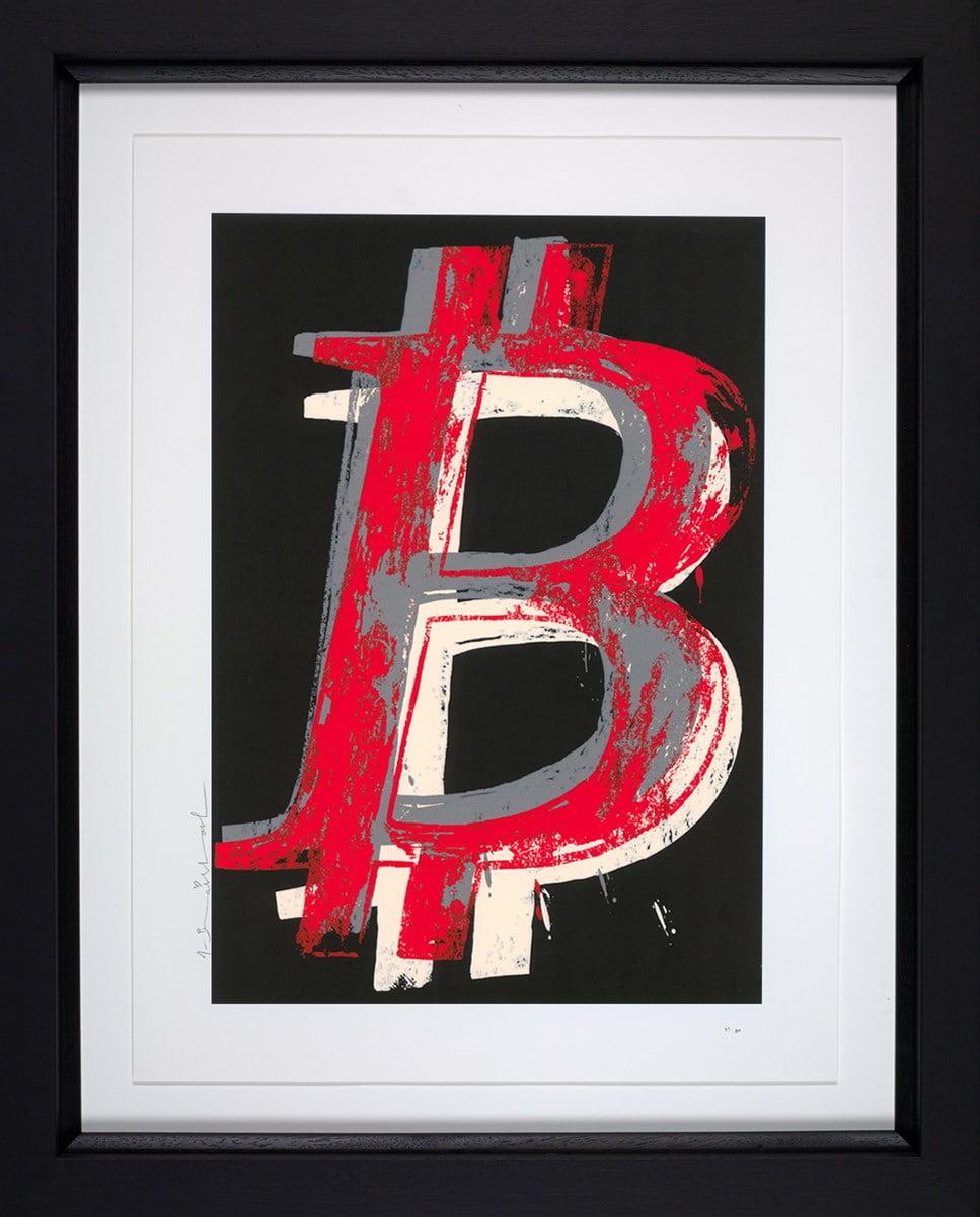 Bitcoin (Black) ~ Mr Brainwash