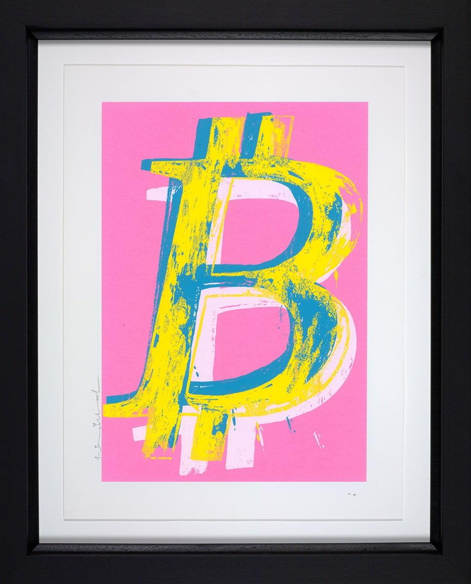 Bitcoin (Pink) ~ Mr Brainwash