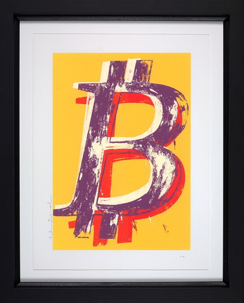 Bitcoin (Yellow) ~ Mr Brainwash