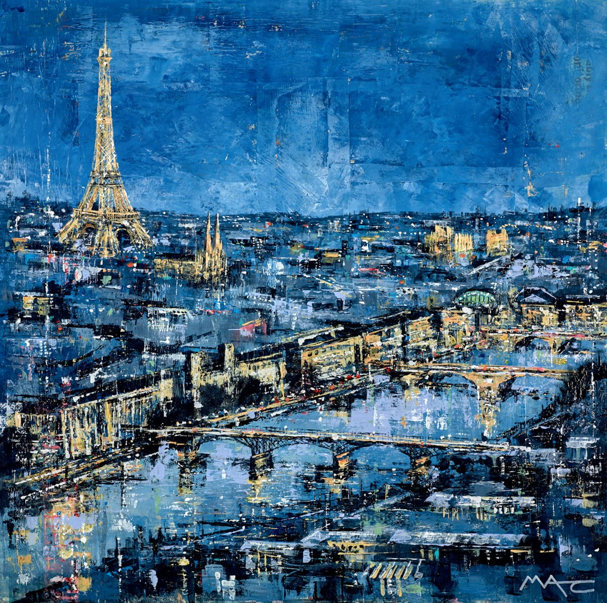 Love on the Banks of the River, Paris ~ Mark Curryer