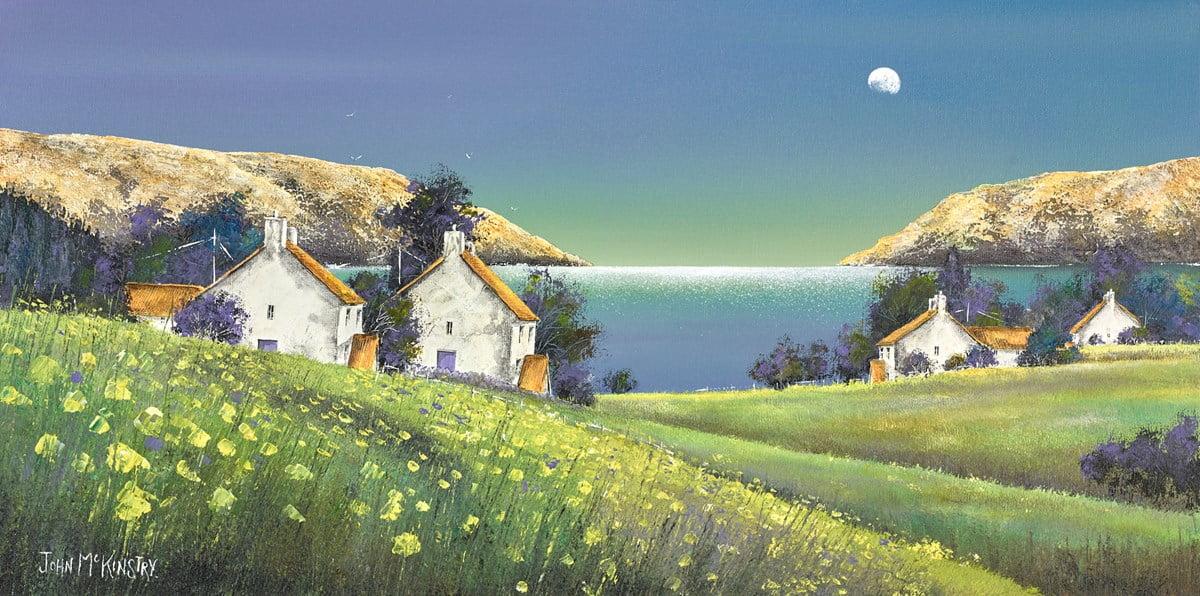 Moonrise and Daffs ~ John Mckinstry