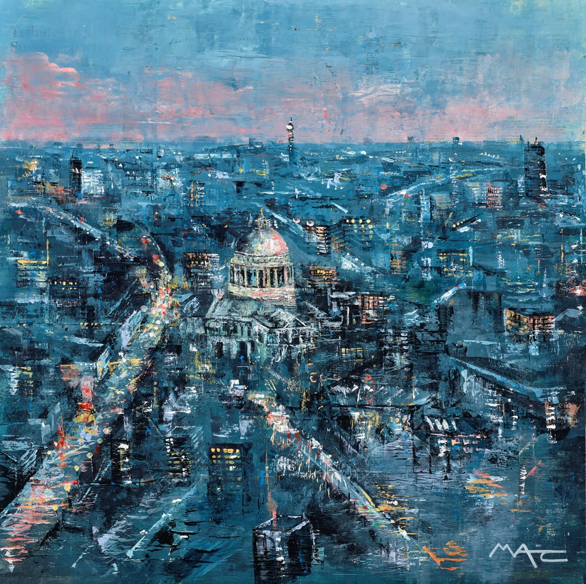 Red Sky at Night, St Paul's London ~ Mark Curryer