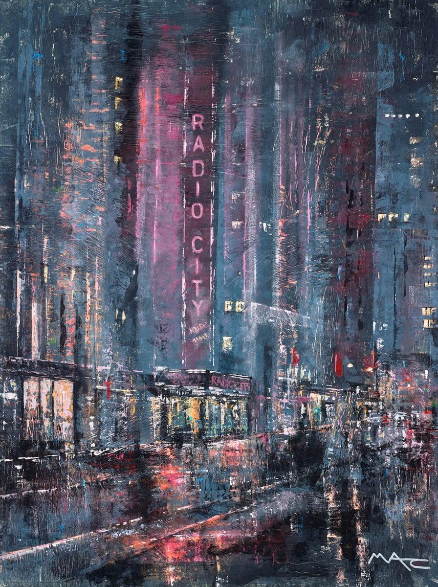 The Hum of the Lights on Rainy Nights, NYC ~ Mark Curryer